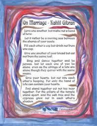 wedding quotes kahlil gibran heartful online on marriage kahlil gibran poster 8x11