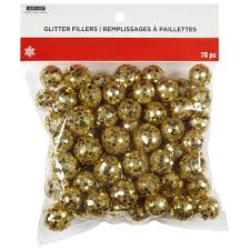 shop for the gold glitter balls by ashland at