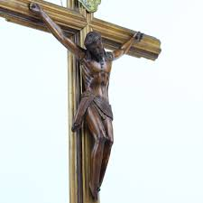 wall crucifixes for sale antique carved wooden religious wall crucifix from italy