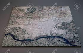 Satellite View Maps Map Of Al Raqqah Syria Satellite View Map In 3d Stock Photo