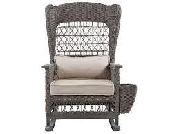 Wicker Rocker Patio Furniture - paula deen outdoor dogwood wicker rocker chair with lumbar pillow