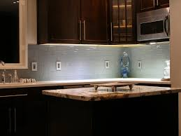 backsplashes pale blue glass tile backsplash farmhouse kitchen