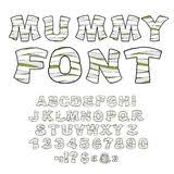 monster font green scary letters vector alphabet live abc stock