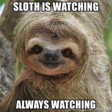 Sloth Meme Maker - sloth is watching always watching what did you say sloth meme