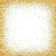 gold glitter confetti frame for festive greeting card stock vector