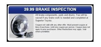 Brake And Light Inspection Price Toyota Service Center Brakes Service Superior Toyota Pa