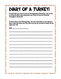 diary of a turkey creative thanksgiving writing activities by