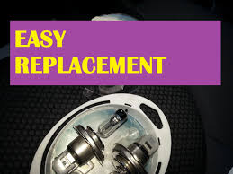 how to easily replace headlight bulbs honda fit jazz gd
