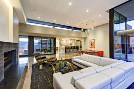 spacious living room modern by nature j2 construction