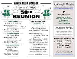 50th high school class reunion ahs 50th reunion letter aiken high school class of 1962 reunion