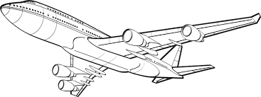 boing 747 bottom coloring page airplane coloring pages