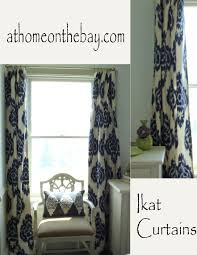 Blue Ikat Curtain Panels Rugs Curtains 2 Panel Navy Ikat Curtains For Awesome Living