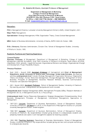 Resume Sample Business Administration by Adjunct Instructor Resume Sample Resume For Your Job Application