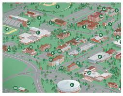 Notre Dame Campus Map City U0026 College Campus Map Illustration U0026 Design