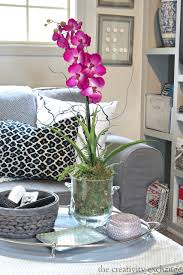 furniture orchid coffee table centerpiece strange quick trick re potting silk orchids to look real