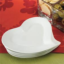 ceramic wedding plates heart shaped ceramic wedding plates 4 pcs heart theme wedding