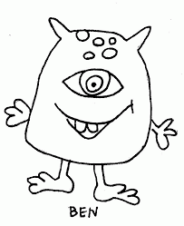 ben ugly doll coloring page coloring home