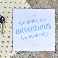 new adventures new memories new home card by pink and turquoise