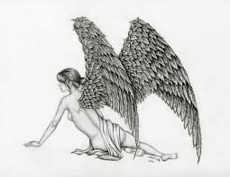 pencil drawings of angel wings pencil drawings of angel wings