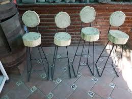 rebar log bar stools bancos de bar varilla troncos 8 steps