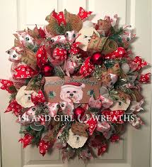 bichon frise bichon frise christmas wreath happy howlidays