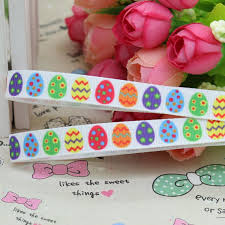 easter ribbon 3 8inch free shipping easter egg printed grosgrain ribbon hairbow