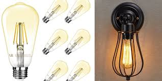 neon mart led lights green deals 6 pack le vintage dimmable edison led bulbs 20 more