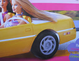 barbie corvette silver amazon com barbie cruisin u0027 corvette vehicle yellow convertible