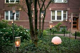 pole mounted jar garden lights
