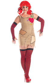 womens plus size fun voodoo patches sally doll dress