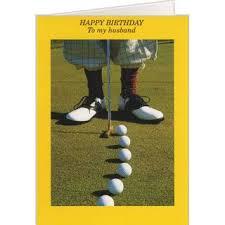 par three golf christmas card holiday golf cards on the ball