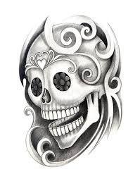 art skull head tattoo stock illustration image 62328430