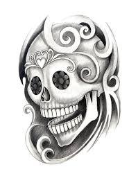 art skull head tattoo stock illustration image 62328430