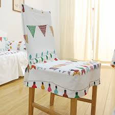 small flags cotton fabric dining table chair cover chair cloth