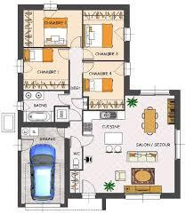 plan de maison en v plain pied 4 chambres plan maison en v plain pied 6 plan maison proven231ale de plain