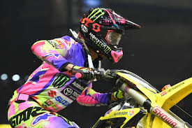 monster energy motocross helmet photo gallery ama supercross detroit dirt action