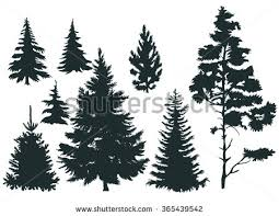 christmas tree silhouette vectors download free vector art