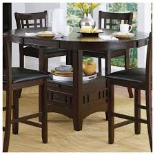 Furniture Charming Counter Height Table With Storage For Dining - Kitchen table with stools underneath