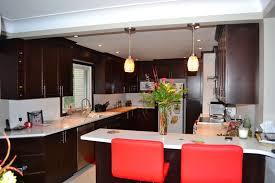 Cherry Espresso Cabinets Kitchen Room Design Minimalist Beech Kitchen Design With Bar