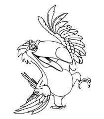 rafael romantic toco toucan rio movie coloring pages