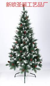 supply pvc christmas tree with leaves 1 8 meters warhead white and