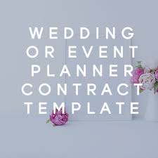 wedding or event planner client contract template aspiring