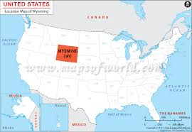 map usa showing wyoming where is wyoming location of wyoming