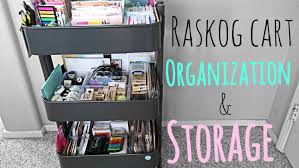raskog cart for organization and storage youtube