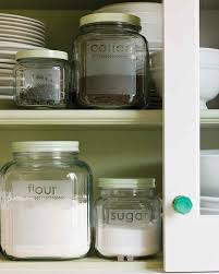 Clear Plastic Kitchen Canisters Etched Glass Storage Jars Martha Stewart