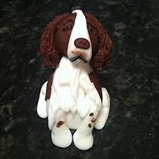 dog cake topper edible spaniel dog cake topper decoration 3x2 co uk