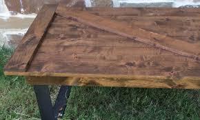 barn door dining table barn door coffee table custom furniture near plano