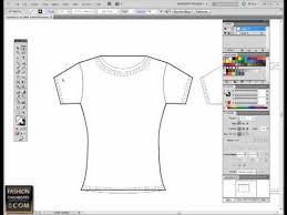 fashion flat sketch in illustrator pen tool tutorial adobe