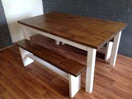 dining table farm style dining room table with bench diy kitchen