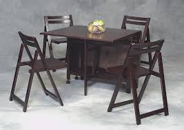 Space Saver Dining Set Table Four Chairs Charming Recent Dite Sets Space Saver Dining Set Table And Four